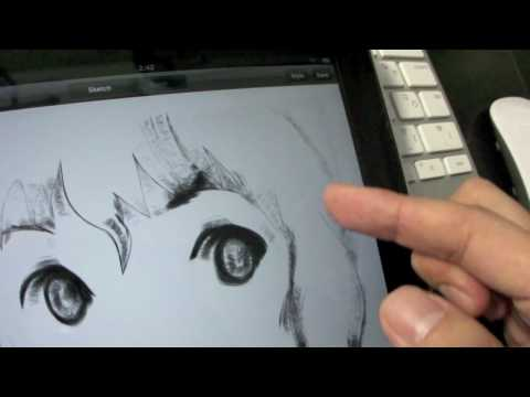 yoshitoshi ABe does doodle on iPad03(using livesketch HD)