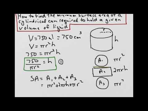 72 mb download lagu how to find the minimum surface area of a how to find the minimum surface area of a cylindrical can to hold a given volume ccuart Choice Image