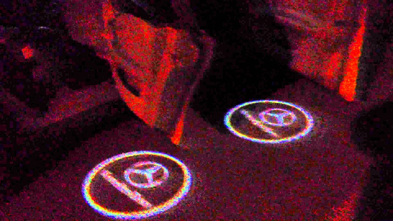 Car Door Step Laser Welcome Ghost Logo Mercedes Benz E240