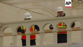 Inauguration Day Preps Underway at US Capitol