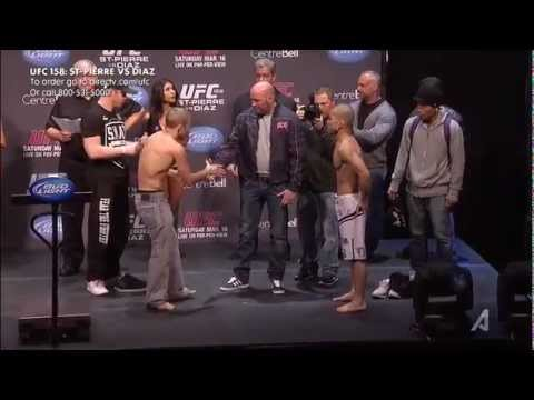 UFC 158: GSP vs Diaz Weigh-Ins.