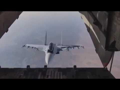 Новости РОССИИ. Сирия. Красавец Су-30СМ заглянул внутрь транспортника Ил-76.