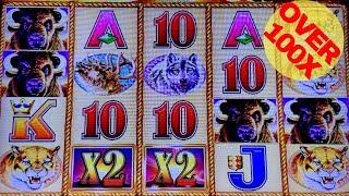 Buffalo Gold Slot Machine Bonus BIG WIN Over 100x   Live Aristocrat Slot Play   NG Slot