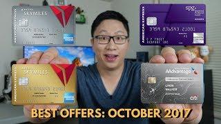Best Card Offers: October 2017 (Delta 60/70k, Citi AA 60k)