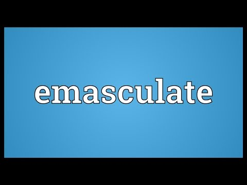 Header of emasculate