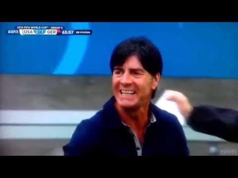 Omar Gonzalez Reaction To Thomas Mueller Goal (2014 FIFA World Cup Brazil, USA-Germany 55')