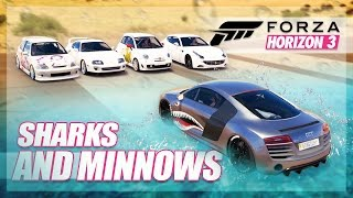 Forza Horizon 3 - Sharks and Minnows! (Mini Games & Random Fun)