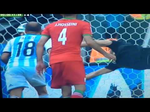 Lionel Messi amazing goal against Iran (World Cup 2014)