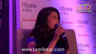 Actress Shruti Haasan Launches Asian Paints New Line Royale Atmos