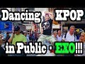 DANCING KPOP IN PUBLIC!! (EXO VERSION)