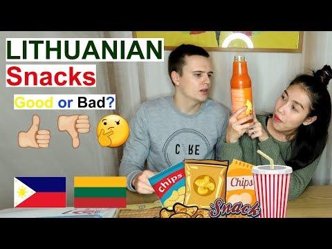 Food Taste Test Lithuanian Snacks Part 2 (PinayVlog) |it'srofa