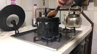 20190219 How to cook rice at IJA Mess Tin using gas stove