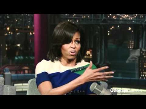 Michelle Obama chides David Letterman for making her cry as she talks about her father