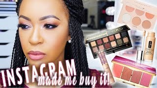 FULL FACE USING INSTAGRAM HYPED MAKEUP | INSTAGRAM MADE ME BUY IT!! ♡ Fayy Lenee Beauty