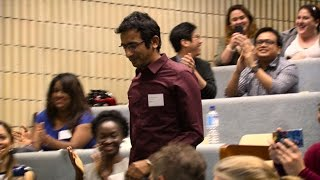 Three minute pitch wins research kudos for Curtin students