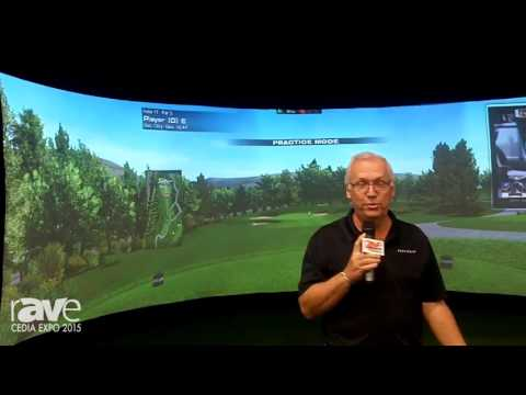 CEDIA 2015: aboutGolf Explains Its AG Curve Residential Indoor Golf Simulator
