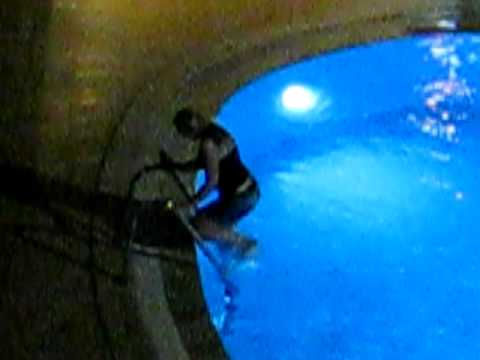 Pushed into the pool at the Amaris appts