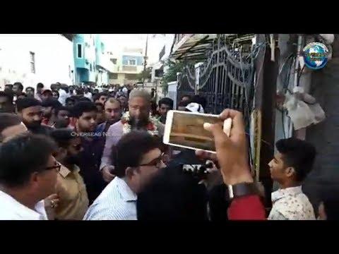Asaduddin Owaisi Door to Door Campaign in Azampura Division in Malakpet Constituency | Overseas News