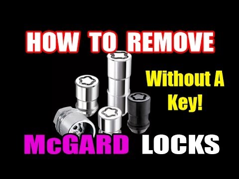 how to remove wheel locks without key youtube. Black Bedroom Furniture Sets. Home Design Ideas