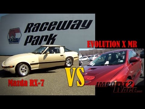 Mazda RX-7 vs EVOLUTION X MR (driver- John Torres)