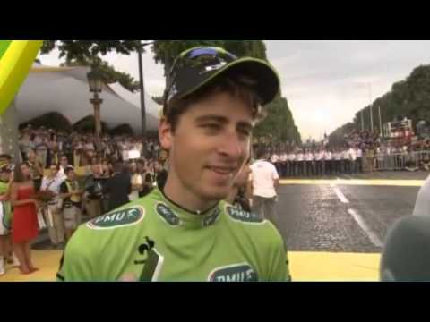 Peter Sagan after stage 21 about winning his third green jersey