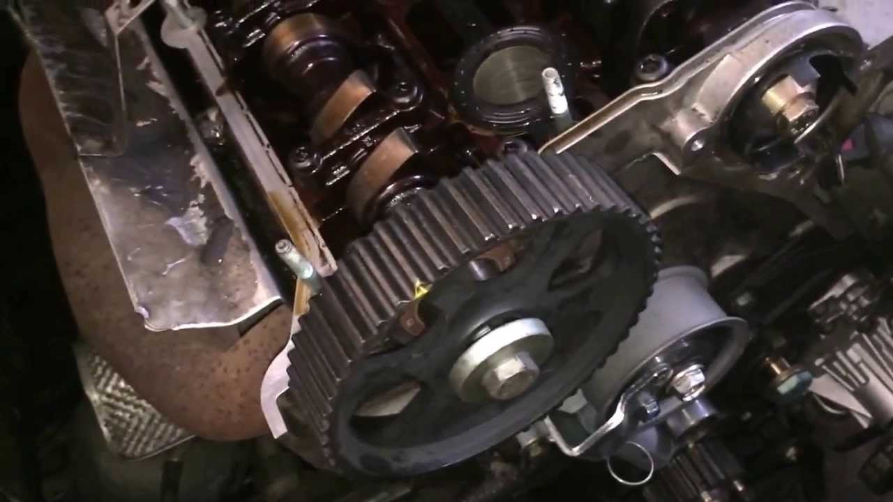 change timing belt vw passat  adr  kw volkswagen passat zahnriemenwechsel youtube