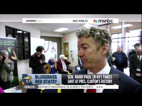 Rand Paul is very concerned about Bill Clinton