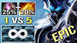 EPIC PRO 1vs5 Carry Abaddon vs PRO Ember Insane Solo Defense Gameplay WTF Dota 2