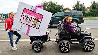 LOL SURPRISE DOLLS HOUSE TOY HUNT!! Power Wheels Ride On Car