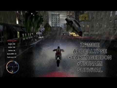 GTA IV ZOMBIE APOCALYPSE CARMAGEDDON TSUNAMI SURVIVAL EP 6 - UNTIL GTA 5