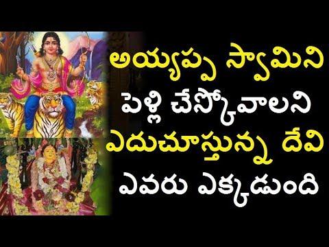 అయ్యప్ప స్వామిని పెళ్లి చేస్కోవాల్ని ఎదురుచూస్తున్నా దేవి ఎవరు ఎక్కడుంది/Ayyappa swamy sabarimala