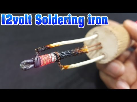 How to make 12volt Soldering Iron using Hair dryer