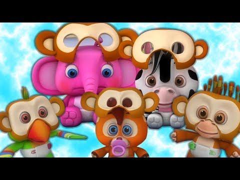 Pięć Małych Małp | Piosenki Dla Dzieci | Kołysanki | Five Little Monkeys