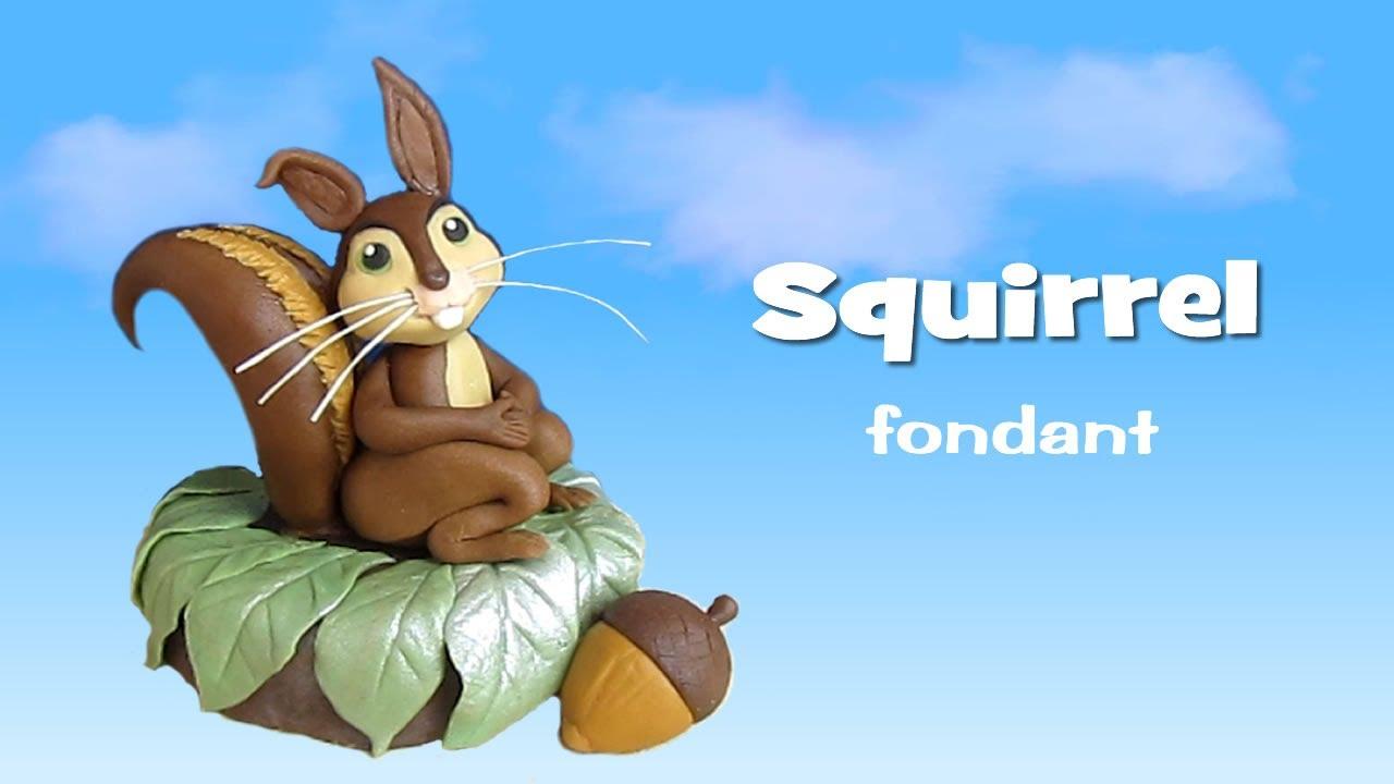 Fondant Squirrel Cake Topper - Scoiattolo in pasta di ...