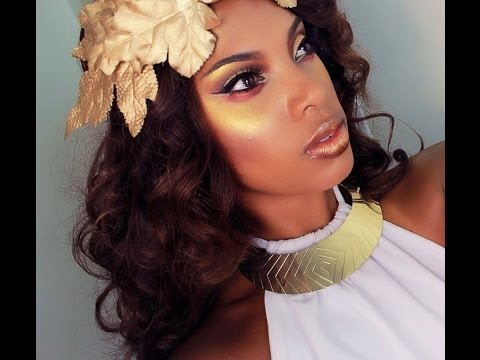 Greek Golden Goddess Makeup & Hair Tutorial