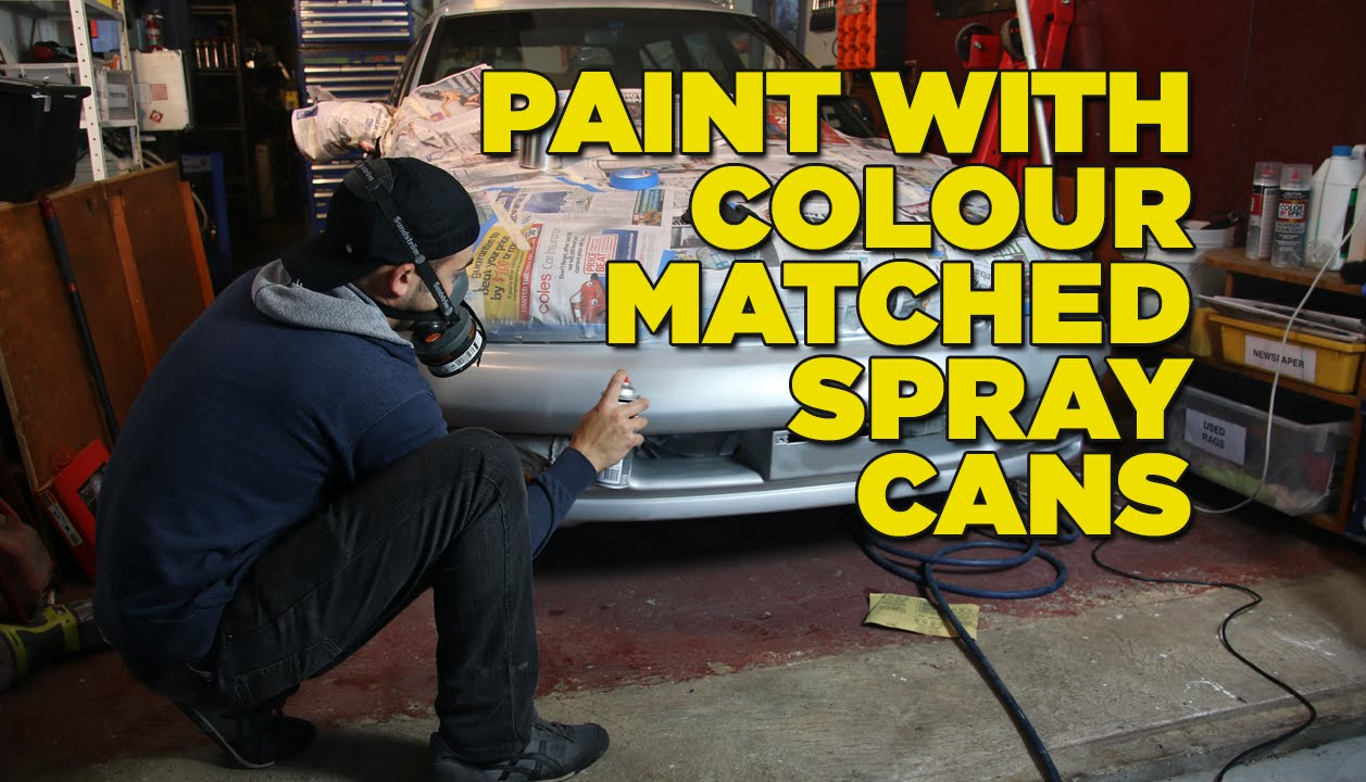how to paint your car with colour matched spray cans youtube. Black Bedroom Furniture Sets. Home Design Ideas