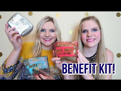 BENEFIT Cosmetics Kit Reviews + GIVEAWAY!!!   Work Kit Girl & Date Night With Mr. Right