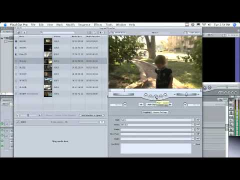 P2 Import in Final Cut Pro 6