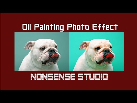 How To Change Image Into Oil Paint Image | Photo Manipulation | NONsense STUDIO