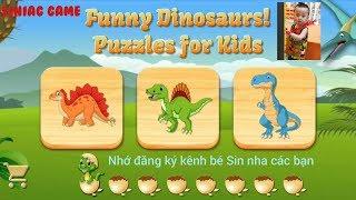 Dino Puzzle 💞 with children songs 💞 ( Ghép hình Khủng Long)