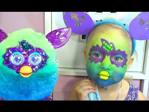 Алиса ФЁРБИ делаем макияж аквагрим и играем FURBY face painting for kids entertainment