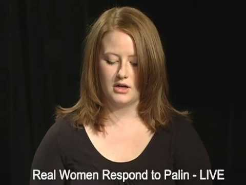 Real Women Respond to Palin LIVE-Virginia Video