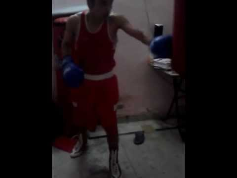 Justin Bieber doing boxing