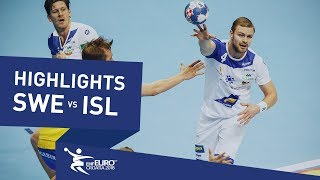 Highlights | Sweden vs Iceland | Men's EHF EURO 2018