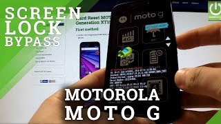 Hard Reset MOTOROLA Moto G 3rd Generation XT1540 - bypass Password Protection