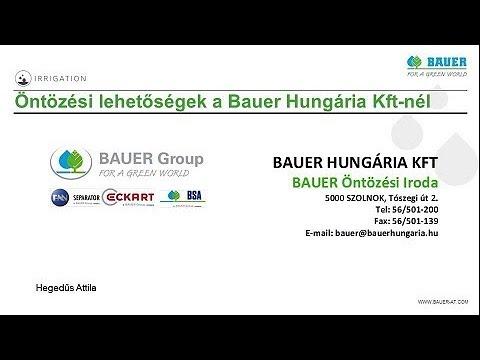 Öntözési lehetőségek a Bauer Hungária Kft.-nél