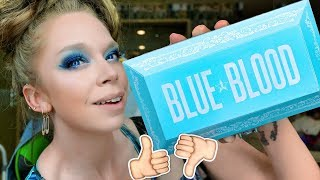 Jeffree Star BLUE BLOOD Palette- REVIEW, SWATCHES & TUTORIAL!