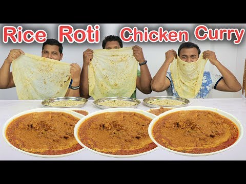 EATING 3KG BUTTER CHICKEN CURRY 3 RUMALI ROTI AND 3 PLATE JEERA RICE CHALLENGE