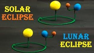 Science Fair Projects   Solar Eclipse Model Lunar Eclipse Model
