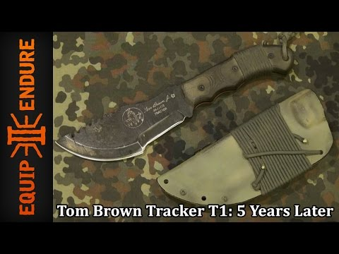 Tops Knives TBT T1, Tom Brown Tracker 5 Years Later Review by Equip 2 Endure YouTube Cut
